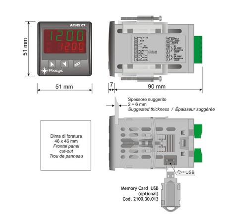 <p>regolatore pid 48x48 dimensioni e installazione</p>