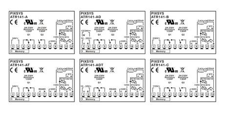 <p>Schema di collegamento termoregolatore PID 32x74 configurabile ATR 141- Pixsys srl</p>