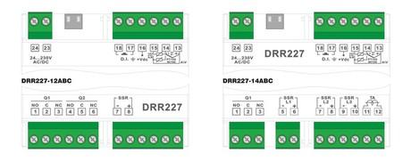 <p>Schema di collegamento termoregolatore triplo setpoint DRR227</p>